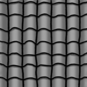 Bump map for roof tiles